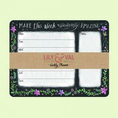 Planificador semanal Lily & Val