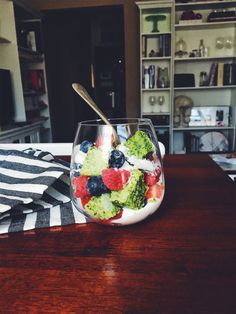Herby Green Cake and Berry Parfait