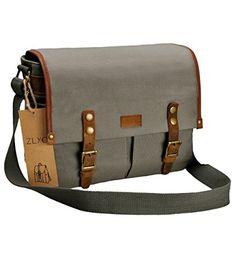 Medium,Black OLizee Vintage Retro Style PU Leather Removable Padded Camera Lens Shoulder Messenger Bag