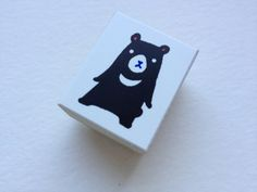 Cute Japanese Wooden Rubber Stamp-Cute Bear by littlehappythings1