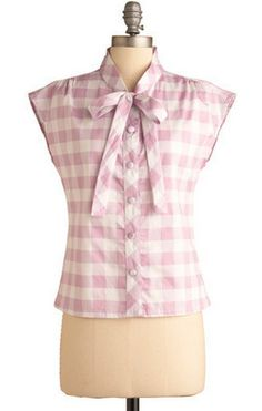 Love the bow tie blouse, and a pretty simple tutorial. I have high hopes for this one!