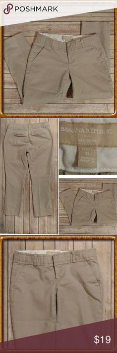 "Banana Republic Crop Pants Brand: Banana Republic Size: 13"" across the waist Length: 31.5"" Inseam: 22""  Khaki, crop pants. Good?, pre-owned condition. Banana Republic Pants Ankle & Cropped"