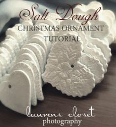Salt Dough Christmas Salt Dough Christmas Ornament Tutorial We have made these for many years. My cookie cutters get used a lot for this. also can make a cinnamon dough too that is awesome! Christmas Projects, Holiday Crafts, Holiday Fun, Christmas Ideas, Salt Dough Christmas Ornaments, Diy Ornaments, White Ornaments, Ornament Crafts, Christmas Ornaments Handmade