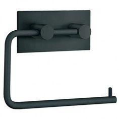 Smedbo Beslagsboden Collection Self-Adhesive Design Toilet Roll Holder - Matt Black