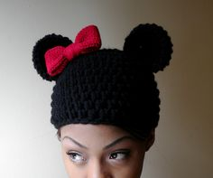 Ravelry: Minnie Beanie with Bow pattern by Asia Spence
