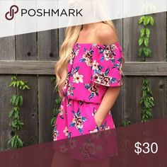 PREORDER Pink, Floral Boho Pocket Romper Such an incredible piece to wear on any occasion! This is an exclusive 'Let Them Eat Cake' design by Dani and Kait & it's only available here at Southern Lush Boutique! This Tiffany Romper is off the shoulder and compete with two side pockets! This romper is semi-lined! True to Size- but Runs Freely! ❤️ to reserve your Item pay half now & half later! ** Listing is made for only HALF of what the Romper is, once SLB gets the piece we will need the other…