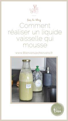 Comment réaliser un liquide vaisselle qui mousse ? Retrouve le DIY sur www.bienvenuechezvero.fr Mousse, Soap, Personal Care, Bottle, Lifestyle, Business, Green, Diy, Passion