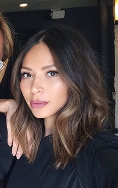 Marianna Hewitt - lilac lip colour may be worth trying.   Also about this balayage....????