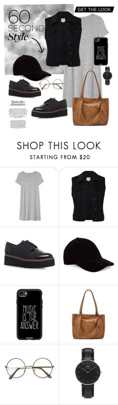 """60 Second Style"" by icha-picangga ❤ liked on Polyvore featuring Gap, Carvela Kurt Geiger, Casetify, Relic, Daniel Wellington, tshirtdresses and 60secondstyle"