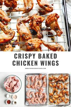 This best crispy baked chicken wings recipe will help you make delicious wings without the grease. Make them for an easy dinner tonight or a game-day snack! #chickenwings #bakedchickenwings #crispychickenwings