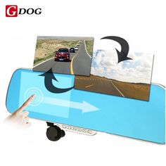 Touch Android 4.4 ROM Dual lens FHD1080P camera WiFi GPS parking car dvrs Rearview mirror video recorder Car DVR -*- AliExpress Affiliate's buyable pin. Click the image to find out more on www.aliexpress.com #CarVideoRecorder