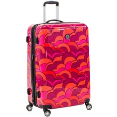 Concept Ful Sunset Multicolored Plastic 28-inch Fashion Hard-sided Spinner Suitcase