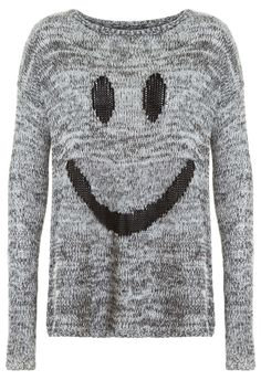#grey #knitted #jumper #smiley #print #TALLYWEiJL #musthave http://www.tally-weijl.net/p/cardigans-pullover/grauer-pullover-mit-smiley-muster/puackisme-gry003?searchTerm=smiley