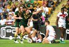 nice Australia are the Rugby League World Champions, beating England 6-0 in the World Cup Final