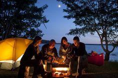 Campfire at Kejimkujik  www.pc.gc.ca  Nothing like camping at Keji on a summer vacation!  Love my family!  #indigo #perfectsummer