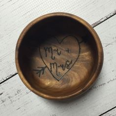 A personal favorite from my Etsy shop https://www.etsy.com/listing/260711511/ring-dish-jewlery-bowl-wooden-mr-mrs