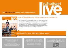 """Das komplette Liederhallen-Programm vom 21. Mai bis 31. August 2015 gibt es jetzt auch im kostenlosen Veranstaltungsmagazin """"live in.Stuttgart"""". Hier könnt Ihr euch zusätzlich im Web zu unseren Veranstaltungen informieren.  http://www.liveinstuttgart.de/view/index.html#44 Weitere Infos zum Magazin unter http://www.liveinstuttgart.de"""