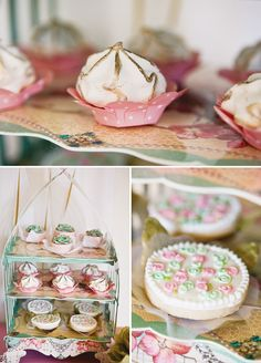 Elegant Shabby Chic Baptism Dessert Social // Hostess with the Mostess®