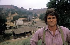 Awesome pic of Michael Landon and his creation! Little House on the Prairie