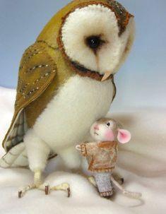 Tutorial Nadel Felted Tier gekleidet Maus & Bunny Klasse Nadel filzen / Create ein Hase und Maus (Kit Available und separat verkauft) auf Etsy, 33,46€