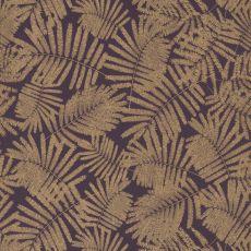 Espinillo wallpaper – aubergine / gold