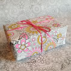 Color-Your-Own Floral Wrapping Paper