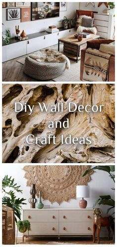 AMAZING, COST-EFFECTIVE AND EASY DIY WALL CRAFTS FOR THE BEGINNERS Diy Wallpaper, Craft Ideas, Decor Ideas, Diy Wall Decor, Home Decor, Wall Decals, Entryway Tables, Easy Diy, Clock