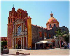 Iglesia de Sta. María de la Asunción. Tequisquiapan, Querétaro, México. by praseodimio, via Flickr