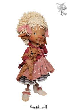 Alles voor en over PSP : TUBES LIZE Enaidsworld Fairy Room, Fairy Art, Elf Doll, Elves And Fairies, Fairy Figurines, Mushroom Fungi, Fairy Dolls, Polymer Clay Art, Cute Dolls