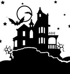 Shared by Jane Đoe. Find images and videos about pink, white and pale on We Heart It - the app to get lost in what you love. Halloween Haunted Houses, Haunted Mansion, Halloween House, Halloween Crafts, House Silhouette, Silhouette Clip Art, Silhouette Images, Halloween Cut Outs, House Vector