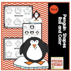 Penguin Roll and Color1 cube with 6 different penguin shapes on it4 different coloring sheetsGreat for centers-make more than 1 cube and let a group work on the coloring sheetsQuiet time-make and let 1 child work by themselves at home*I have other Roll and Color pages you might like.