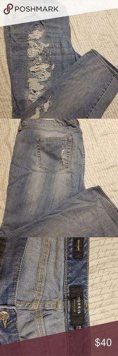 f37ffd2316c Torrid Distressed Jeans Distressed Jeans. Worn a few times