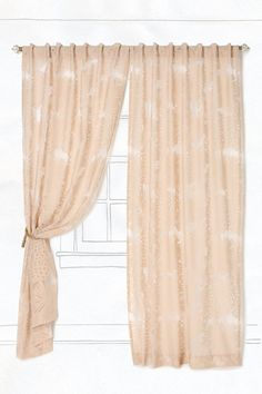 Oversized dahlias, who wouldn't love these curtains!