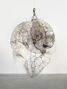 Elliott Hundley, Alas! 2011 Metal, plastic, pins, glass, wire, string 133 1/2 x 106 x 92 inches (339.1 x 269.2 x 233.7 cm)