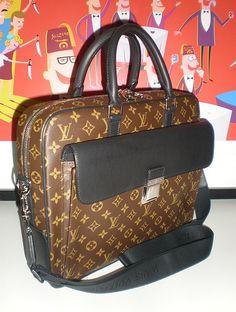 Louis #Vuitton Monogram Macassar Soft Briefcase, men's F/W2009