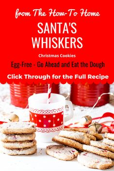 19 Traditional Christmas Cookie recipes including this easy-to-make and oh so tasty Santa's Whiskers - it's basically a shortbread cookie with pecans, cherries, and coconut. These egg free delectable White Chocolate Cranberry Cookies, Chocolate Cookie Dough, Italian Cookie Recipes, Easy Cookie Recipes, Easy Recipes, Holiday Baking, Christmas Baking, Italian Christmas, Christmas Kitchen