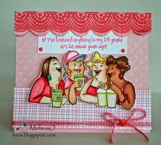 Art Impressions Girlfriend Blend Set (Sku#4132) pink coffee card.