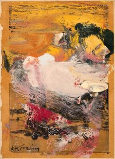 Willem de Kooning, Untitled (Sketch of Woman Kicking Leg)