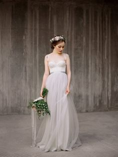 This Dress with Chiffon Bottom Will Make You Love Grey