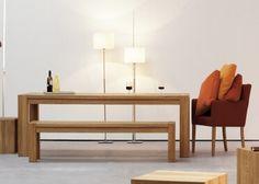 Canape design personnalisable avec 3 modules au choix   angle + central +  meridienne en lin 8 couleurs - donna par jankurtz. Table de repas en chêne  ... 3cd657391526