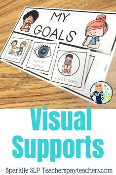 Visual Supports Visual supports can make all the difference with classroom behavior. Choose individualized student goals to aid effective participation during large or small group instruction. Kindergarten Behavior, Classroom Behavior Management, Student Behavior, Student Goals, Behavior Goals, Speech Activities, Language Activities, Preschool Special Education, Physical Education