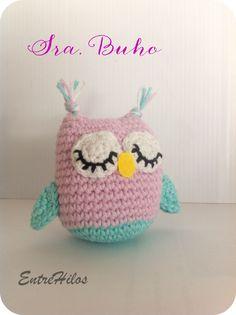 Easter Crochet Patterns, Crochet Owls, Owl Patterns, Crochet Animals, Easy Crochet, Baby Rattle, Stuffed Toys Patterns, Crochet Designs, Handmade Toys