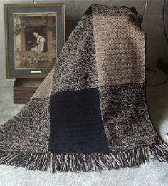 Free crochet pattern: Nature Blocks Crocheted Afghan