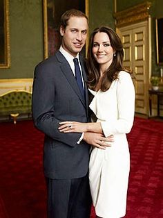 Kate Middleton. Photo. Official engagement portrait by Mario Testino. For the formal photo – which was snapped in the historic Council Chamber linked to Clarence House, the official residence of William's father Prince Charles – Prince William donned a Turnbull and Asser suit, while Kate chose a white Reiss dress and Links earrings.