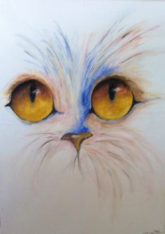 Cat eyes/ tableau acrylique /Le chat/son regard/arts/France de la boutique MagalineARTS sur Etsy
