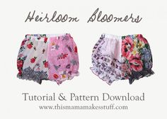Made another pair of these little hanky bloomers last night. Great baby shower gift!