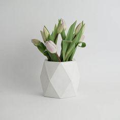 ORE IN WHITE  Geometric Concrete Vase  Planter  Pot