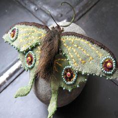 Velvet Luna Moth Brooch via Etsy