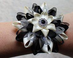 Wrist Corsage Flower Wrist Corsage Coral by PetalPerceptions