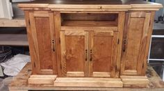 Tv stand w/ hidden compartments  - Woodworking creation by Nate Ramey